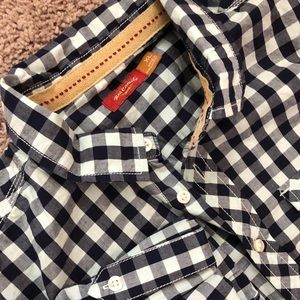 NWT Boys button down, dark and light blue